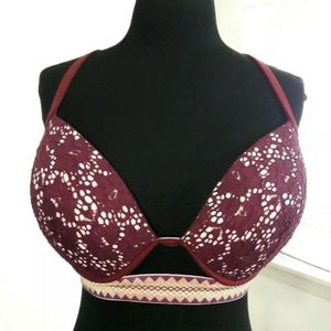 Shade & Shore Bikini Top Sz 36DD Multicolor Padded